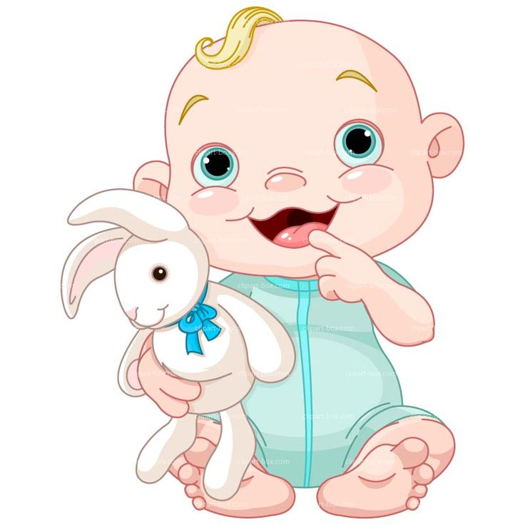 baby clipart boy vector cliparts laughing rabbit cartoon clip royalty vectors bunny clipground graphics toys картинки box малыш источник
