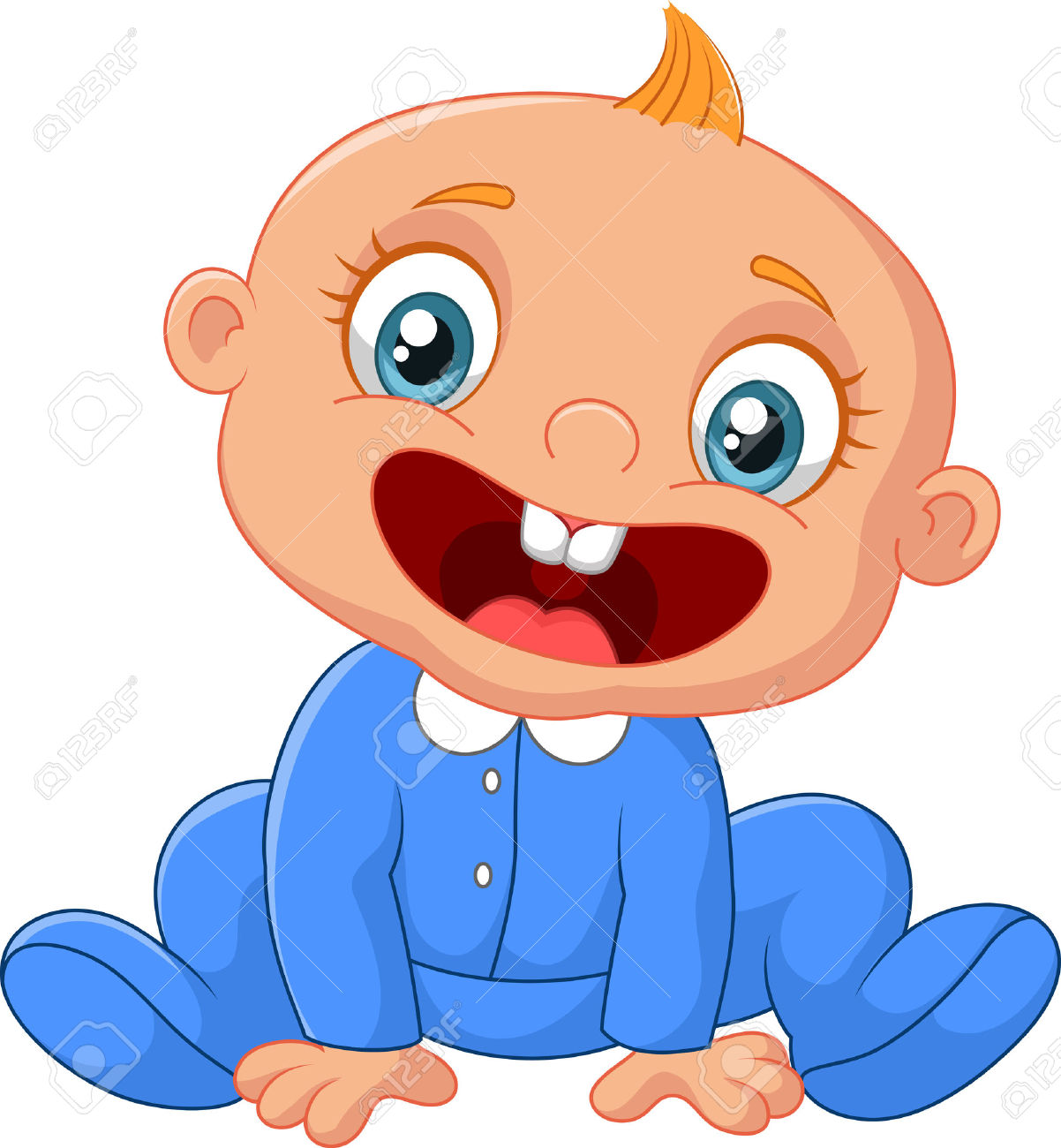 Baby Laughing Clipart