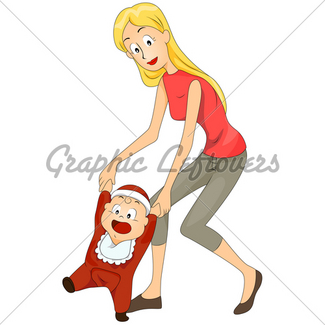 Baby Learning To Walk · GL Stock Images.