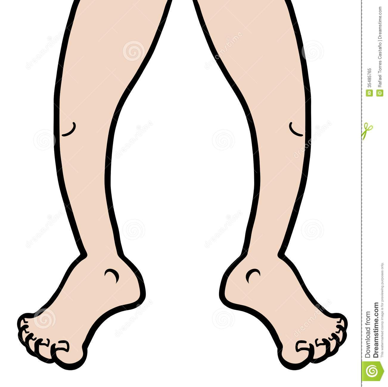 Legs and feet clipart girl.