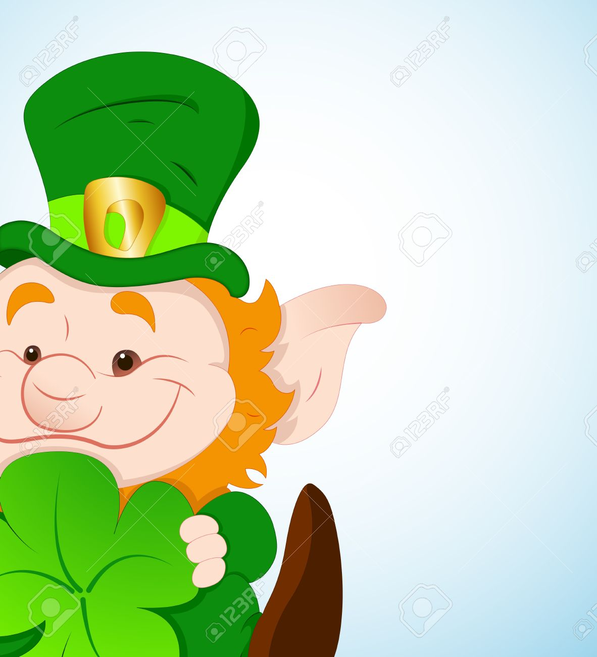 Baby Leprechaun With Shamrock Royalty Free Cliparts, Vectors, And.