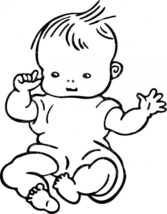 Infant clipart sketch, Infant sketch Transparent FREE for.