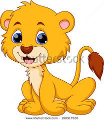 Image result for baby lion clipart black and white.