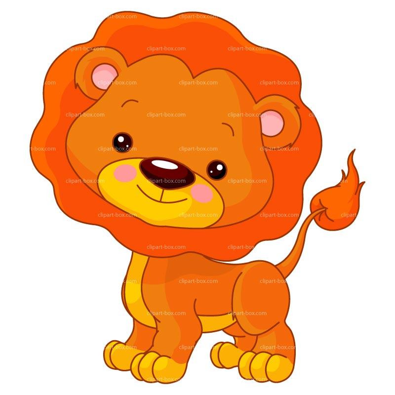 Baby Lion Cartoon Clipart.