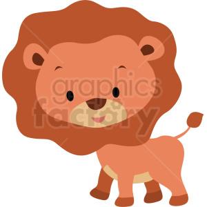 baby cartoon lion vector clipart . Royalty.
