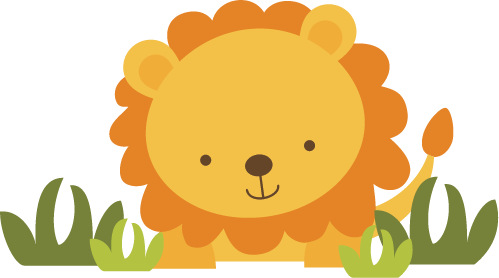Baby lion clipart 4.