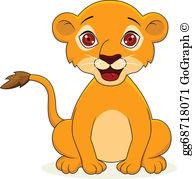 Baby Lion Clip Art.