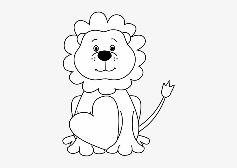 Lion Black And White Baby Lion Clipart Black And White.