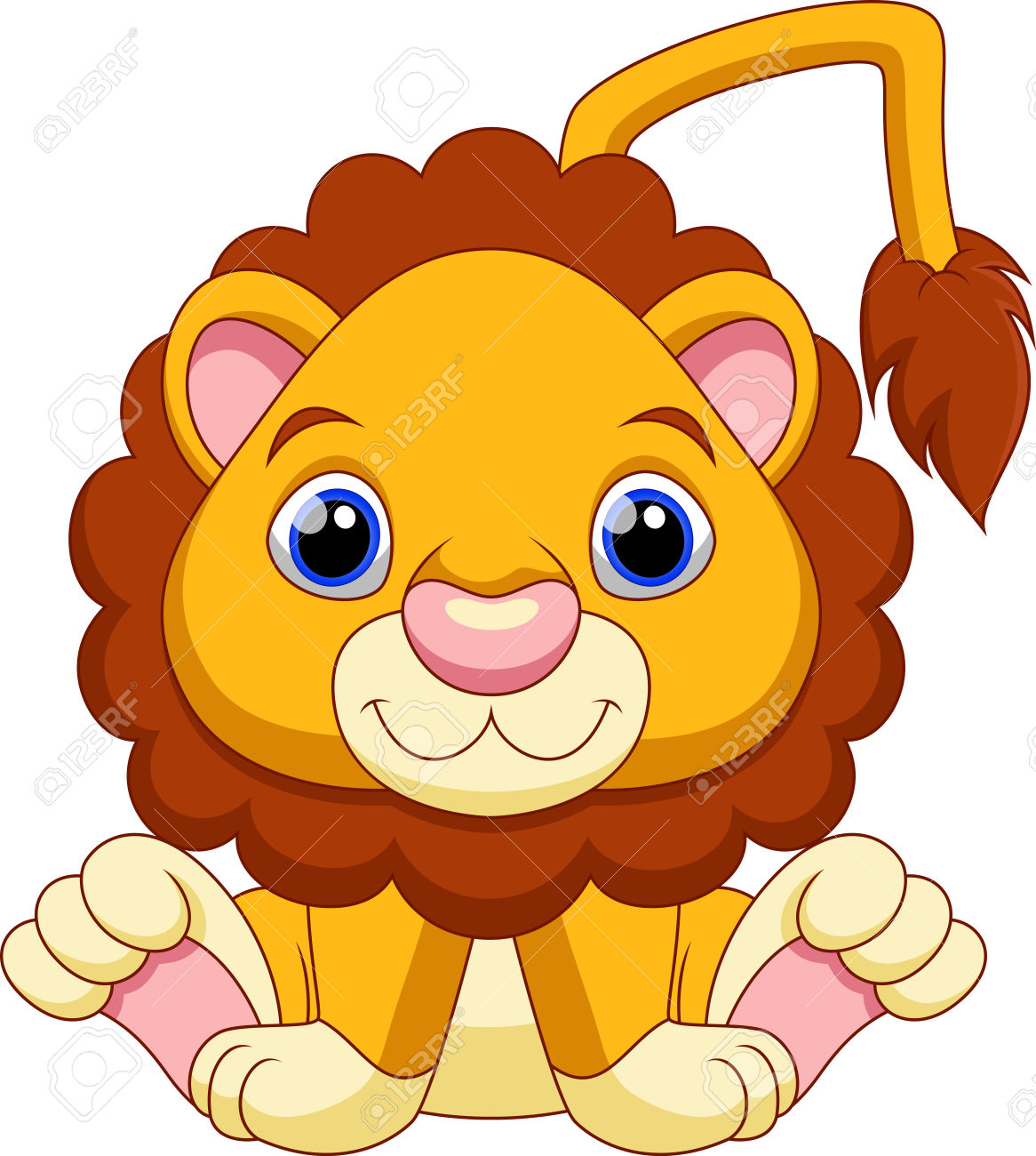 Free Baby Lion Clipart.