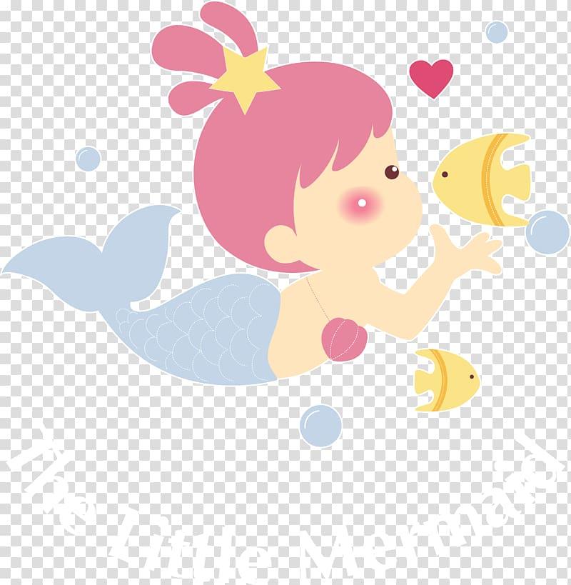 The Little Mermaid illustration, Swimming, Hand.