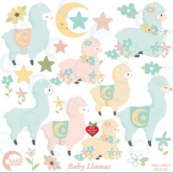 Llama Clipart, Alpaca Clipart, Baby Llamas { Best Teacher Tools } AMB.