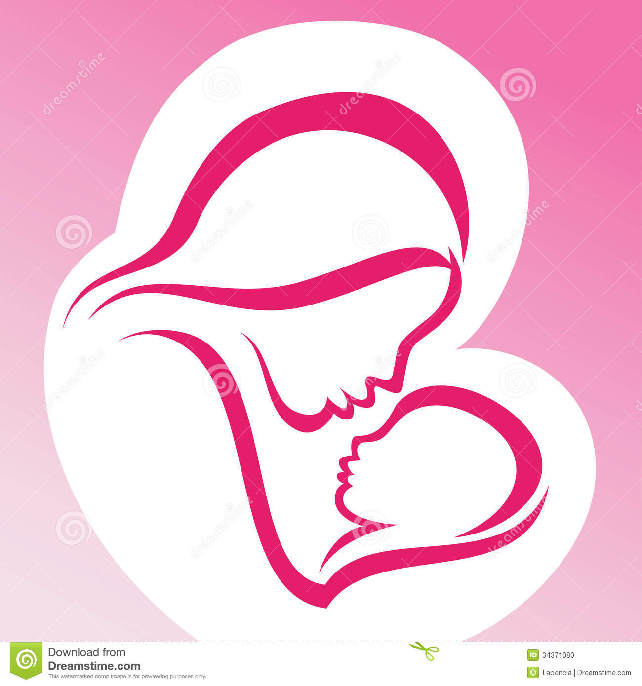 Mother And Baby Love Clipart.