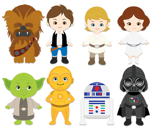 Wall Stickers For Kids Star Wars Clipart in 2019.