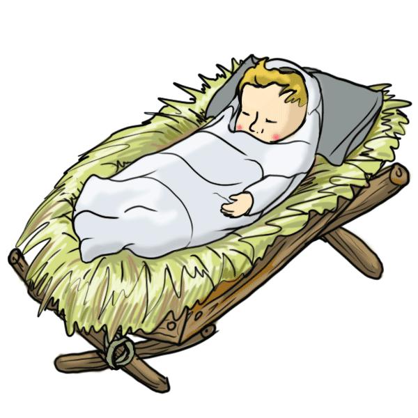 Kết quả hình ảnh cho baby jesus in a manger clipart.