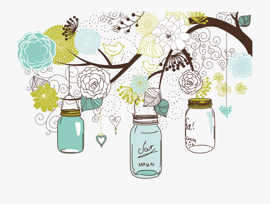 Mason Jar Clipart Baby Shower.