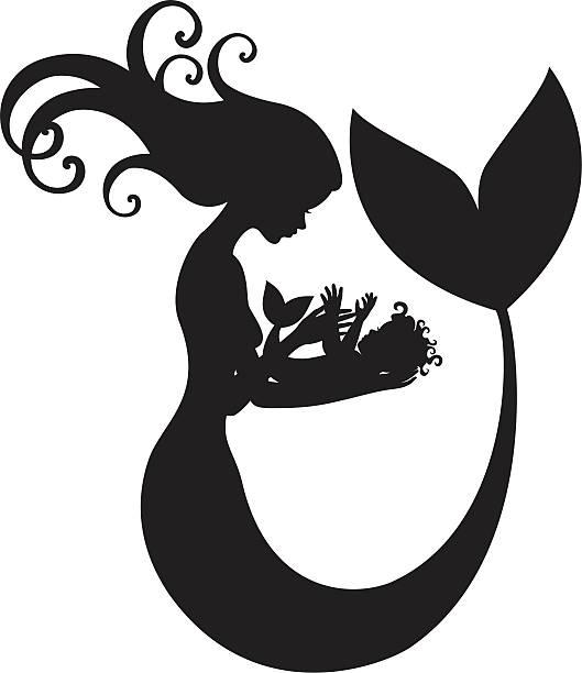 Best Baby Mermaid Illustrations, Royalty.