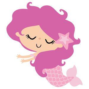Baby Mermaid Clipart.