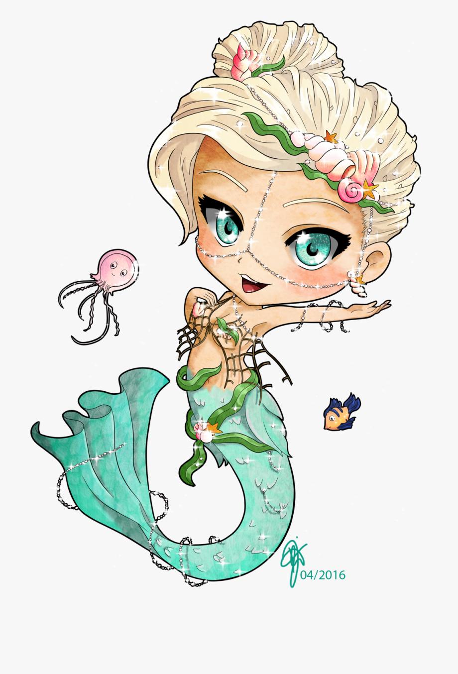 Clam Clipart Mermaid Baby.