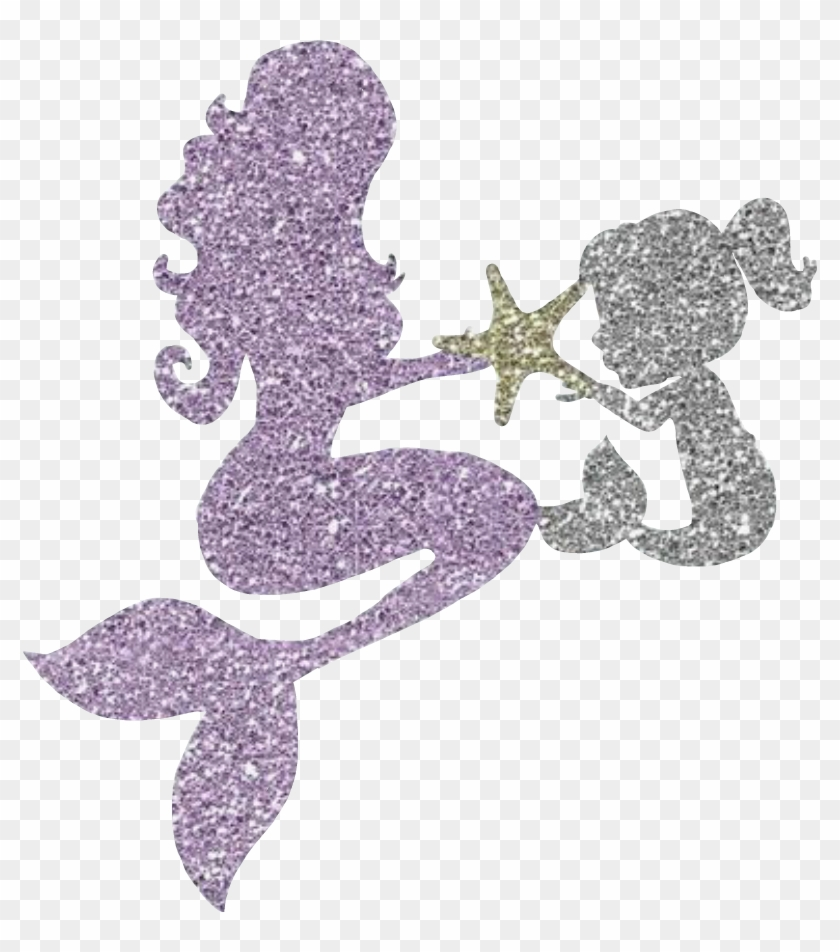 Mermaid Glitter Sparkly Cute Mamababysticker.