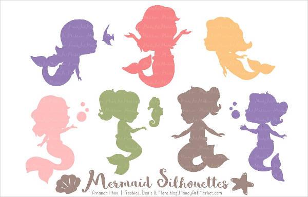 Girl Mermaid Silhouette.