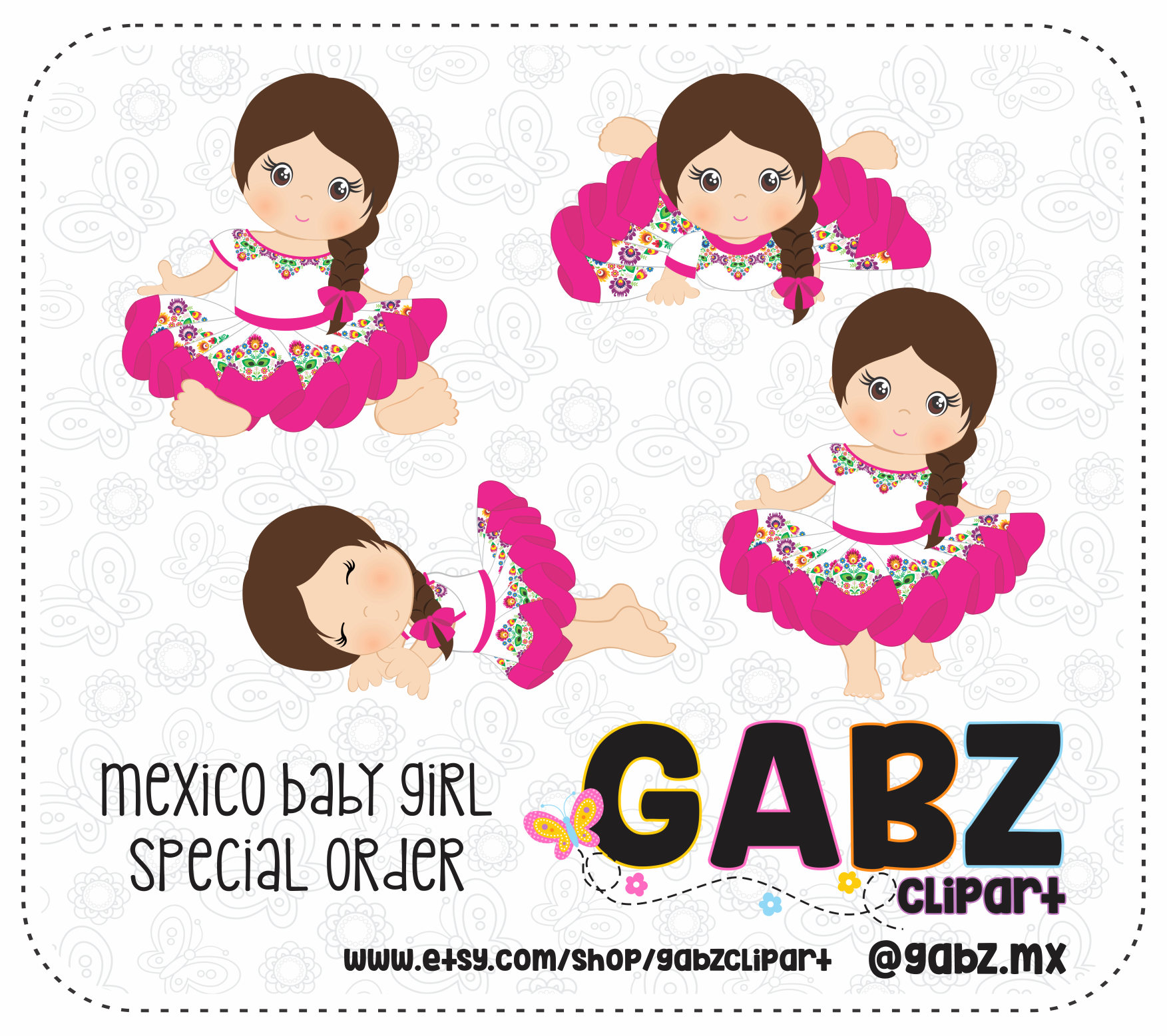 Mexican Baby Clipart.