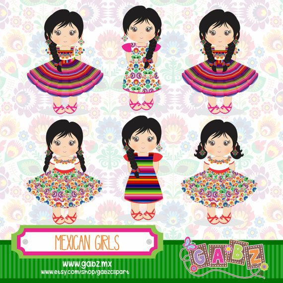 Mexican Girl Clipart.