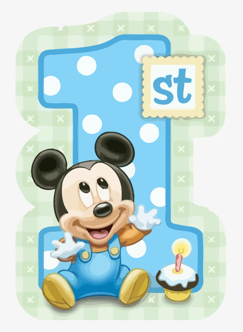 Mickey Mouse 1st Birthday Clipart Png.