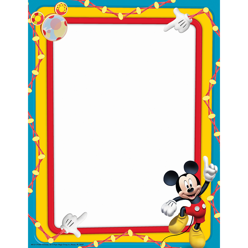 Mickey Mouse Frame Clipart.