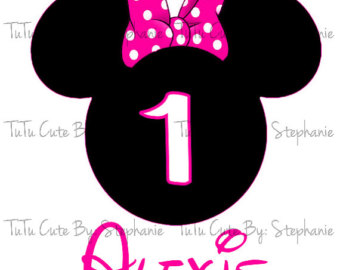 Minnie Mouse 1st Birthday Clip Art.