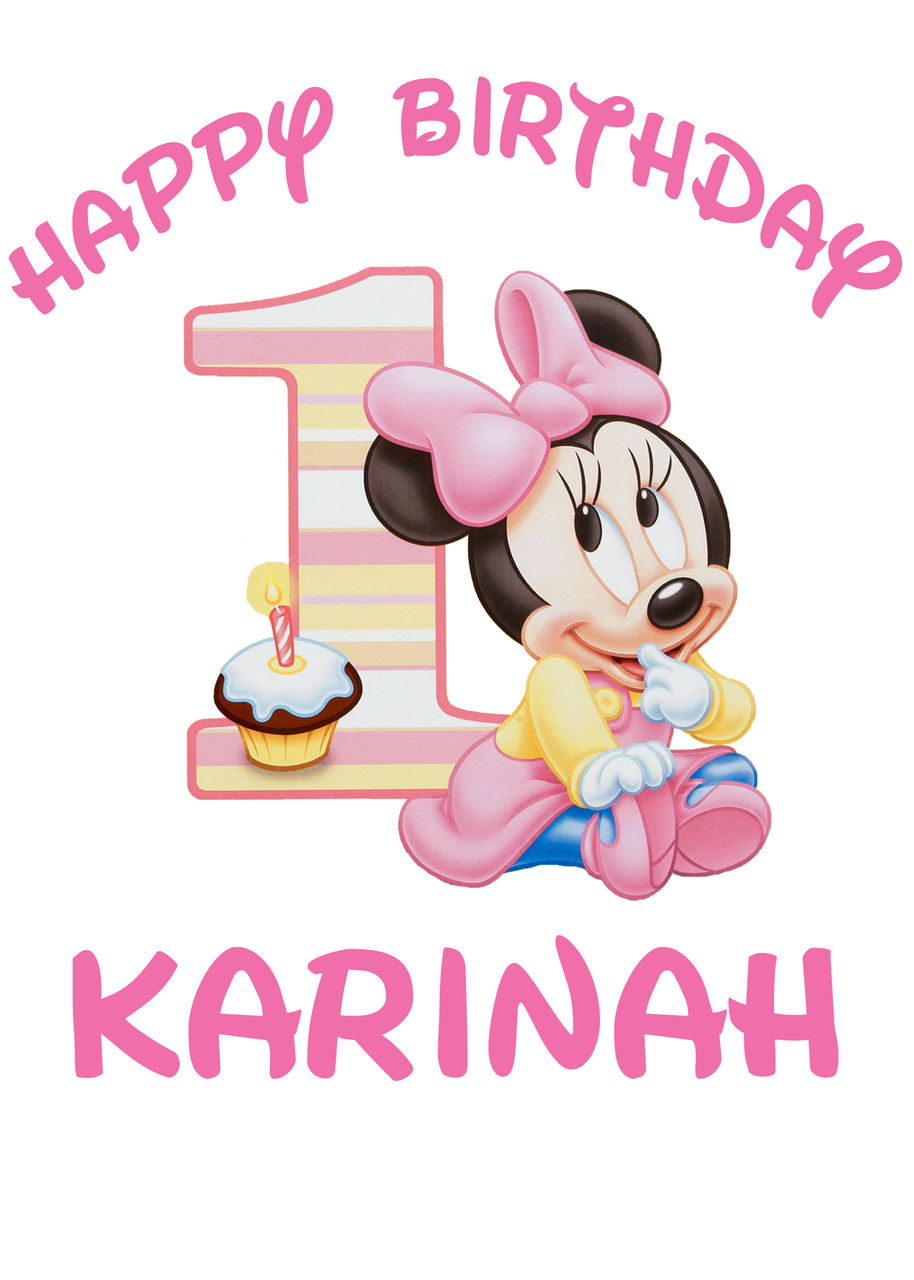 Disney Baby Minnie 1st Birthday Iron On Transfer.