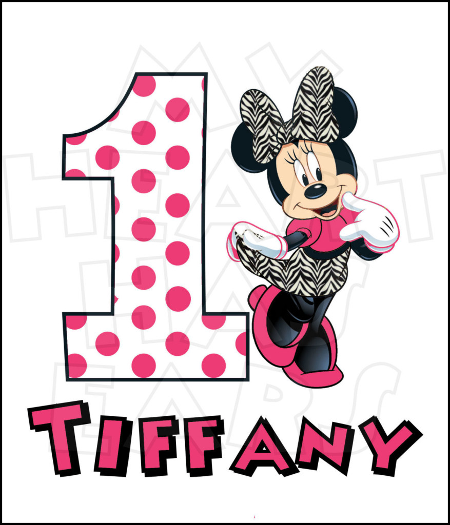 Personalized Mickey Mouse 1st Birthday Shirts