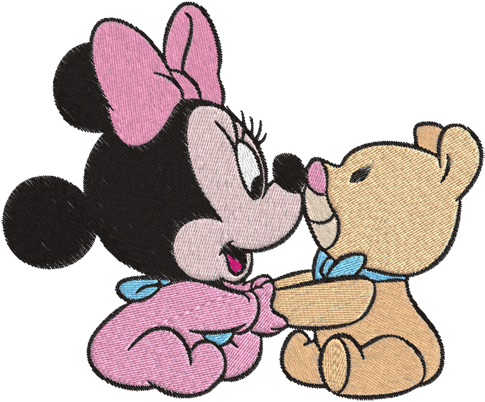 clip art of baby minnie mouse.