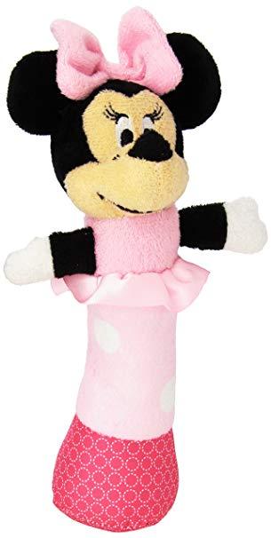 Disney Baby Minnie Mouse Plush Stick Rattle, 7.5\