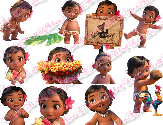 Moana Clipart 2, Collage Sheet, Moana Birthday, Moana Party, Moana.