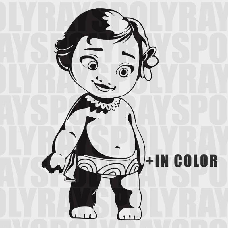 Moana svg, clipart, digital download, Baby Moana Kid Disney SVG, Vaiana  PNG, Disney Princess EPS, Stencils, Vector.