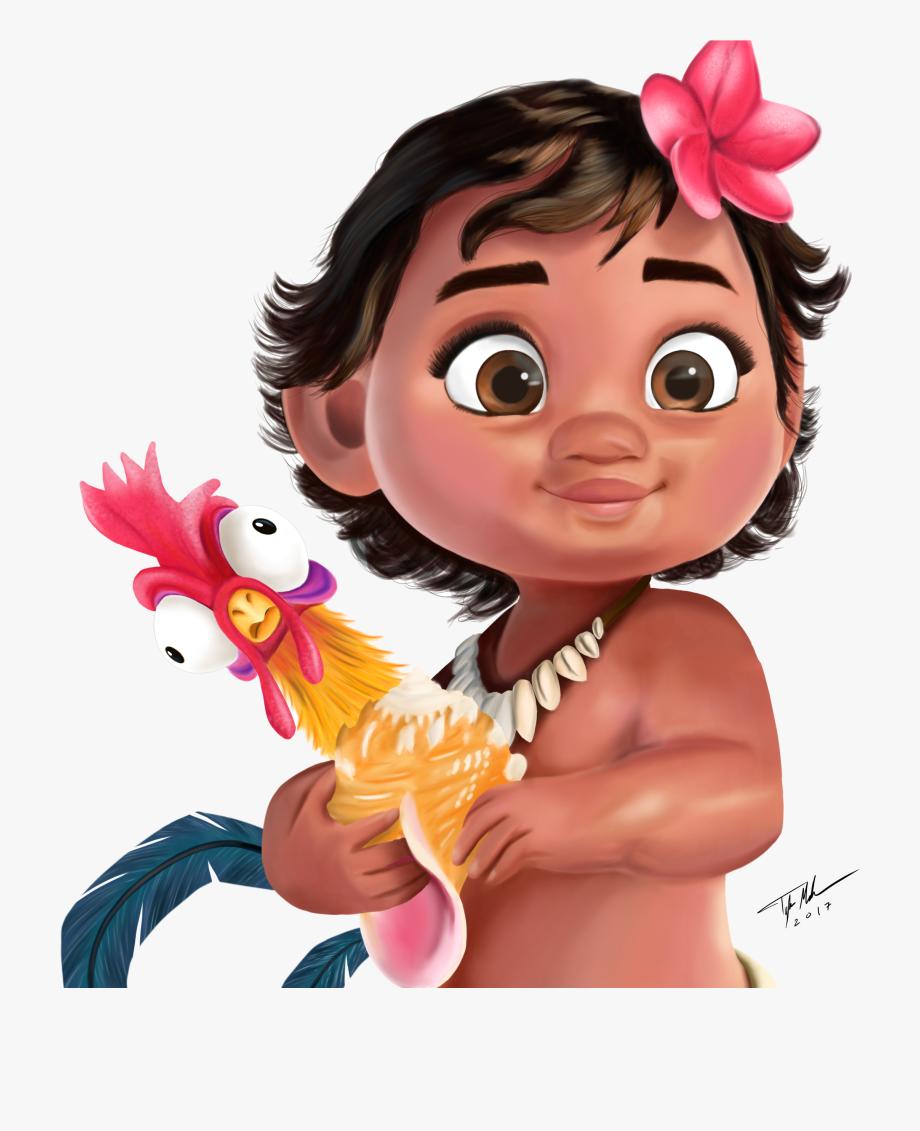 Baby Moana Clipart.