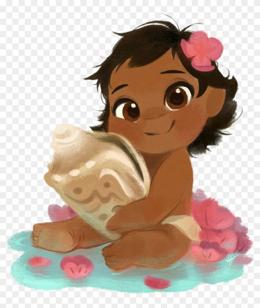 Baby Moana Sitting Down, HD Png Download.