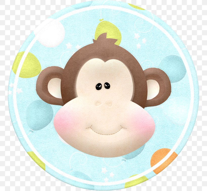 Monkey Cartoon Clip Art, PNG, 759x759px, Monkey, Baby Shower.