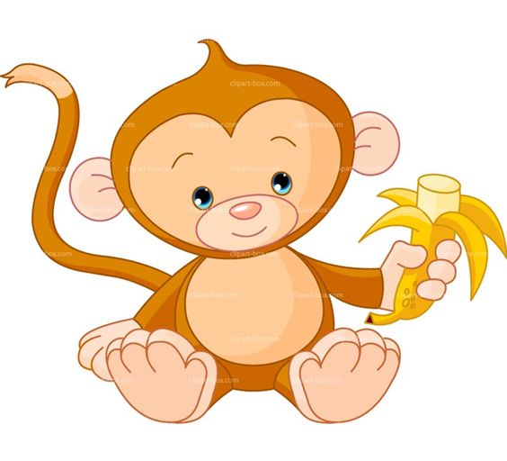 Cute Monkey ClipArt.