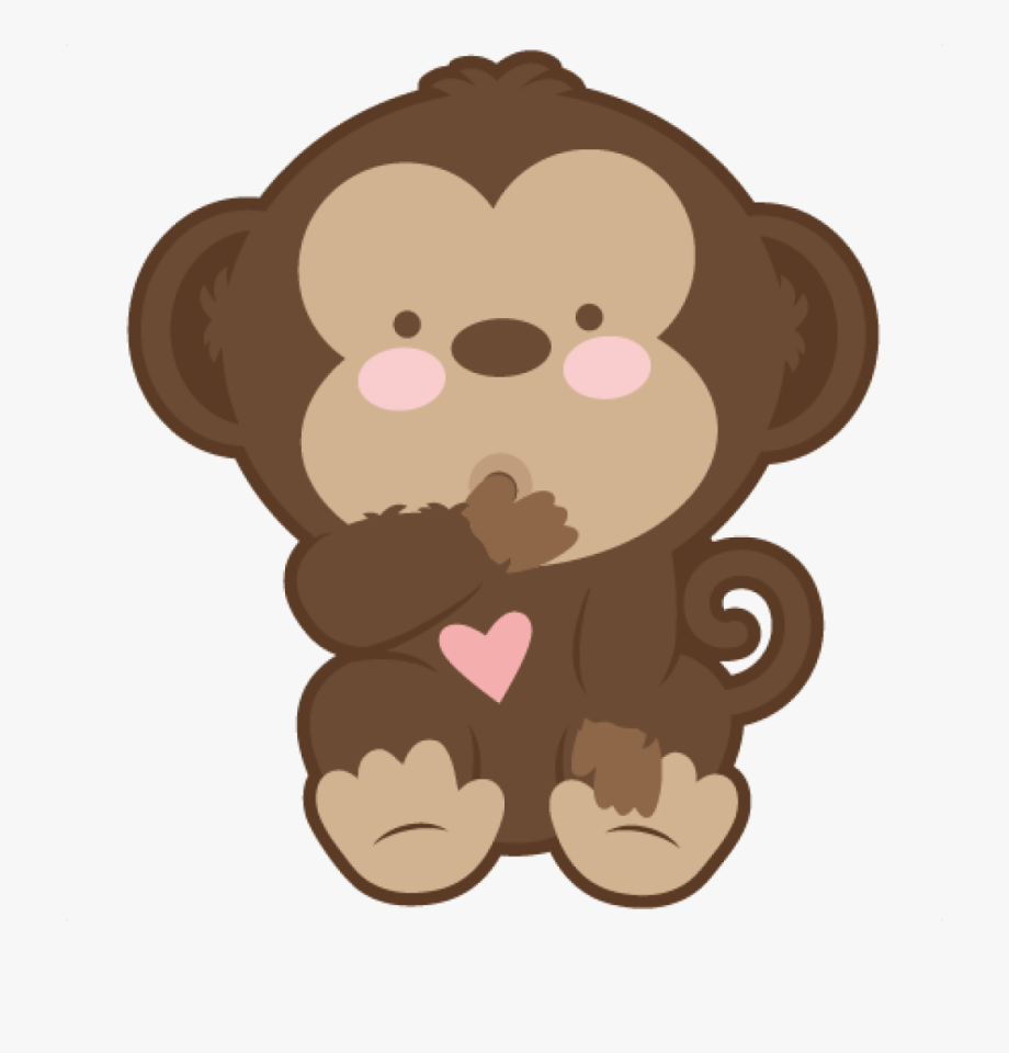 Baby Monkey Clip Art Ba Monkey Svg Scrapbook Cut File.