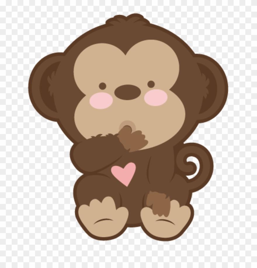 Baby Monkey Clip Art Ba Monkey Svg Scrapbook Cut File.