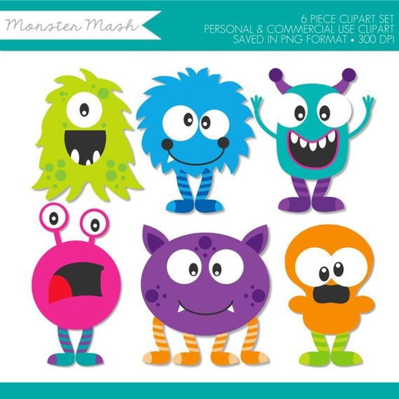 Monster Clip Art,Monster Mash Clipart,Halloween Clipart,Monster Clipart  Cute,Monster Clipart for Kids,Monster Clipart Halloween,Baby Monster.