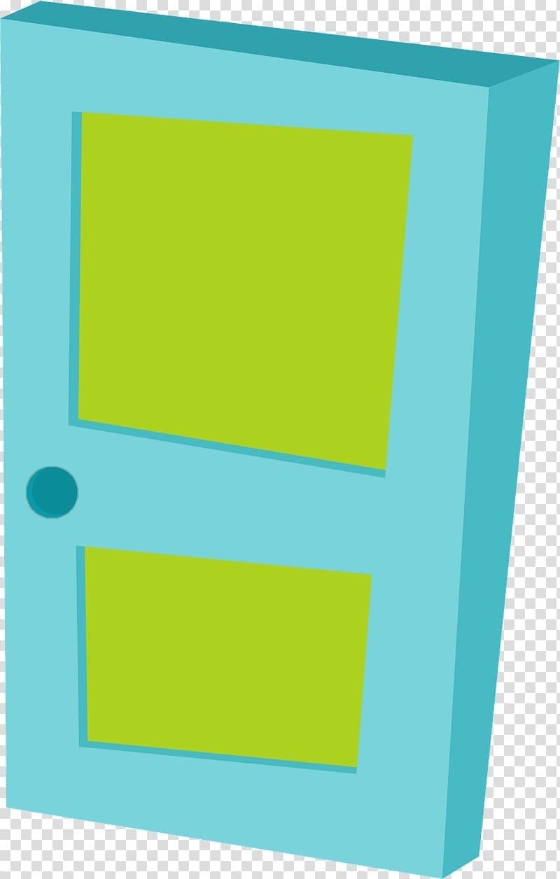 Blue and green wooden door, Monsters, Inc. Door James P.