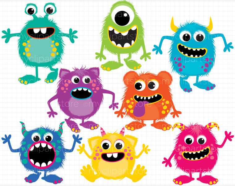 Baby Monster Clipart Free.