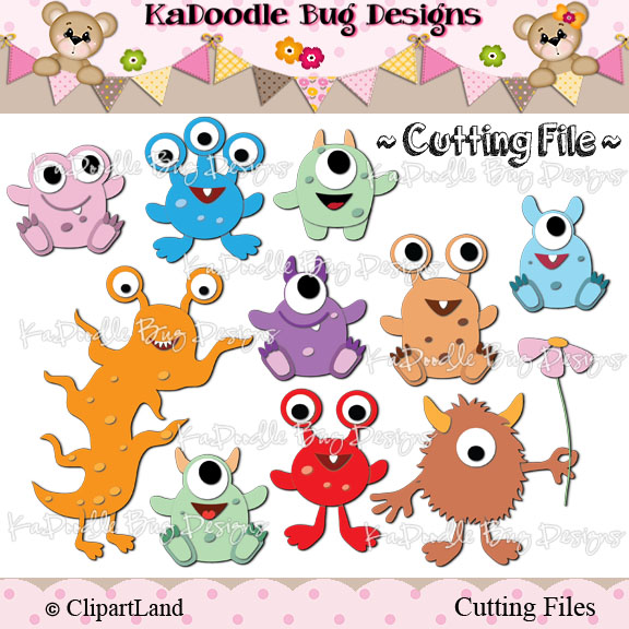 Cute Baby Monster Clipart.