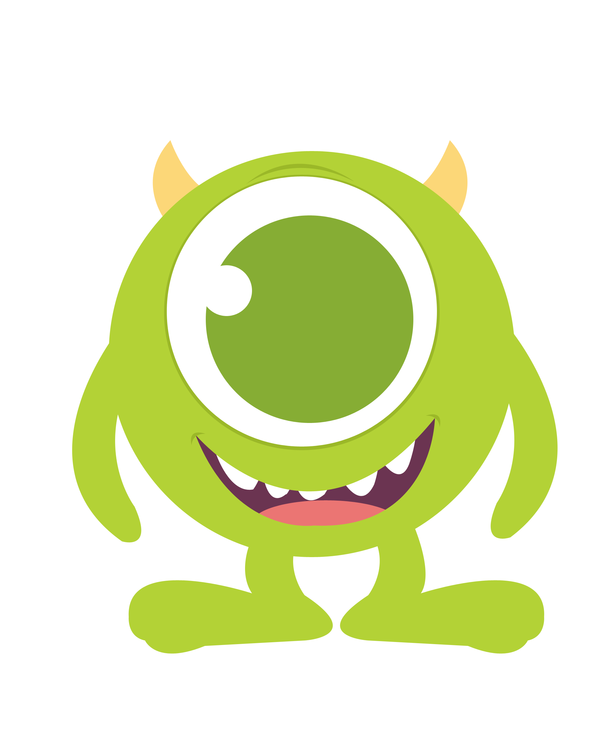 Baby mike monster inc clipart.