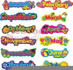 Free Clipart For Teachers Months Of The Year.