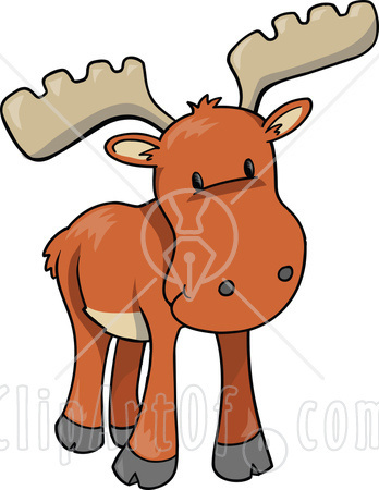 Cute Baby Moose Clipart.