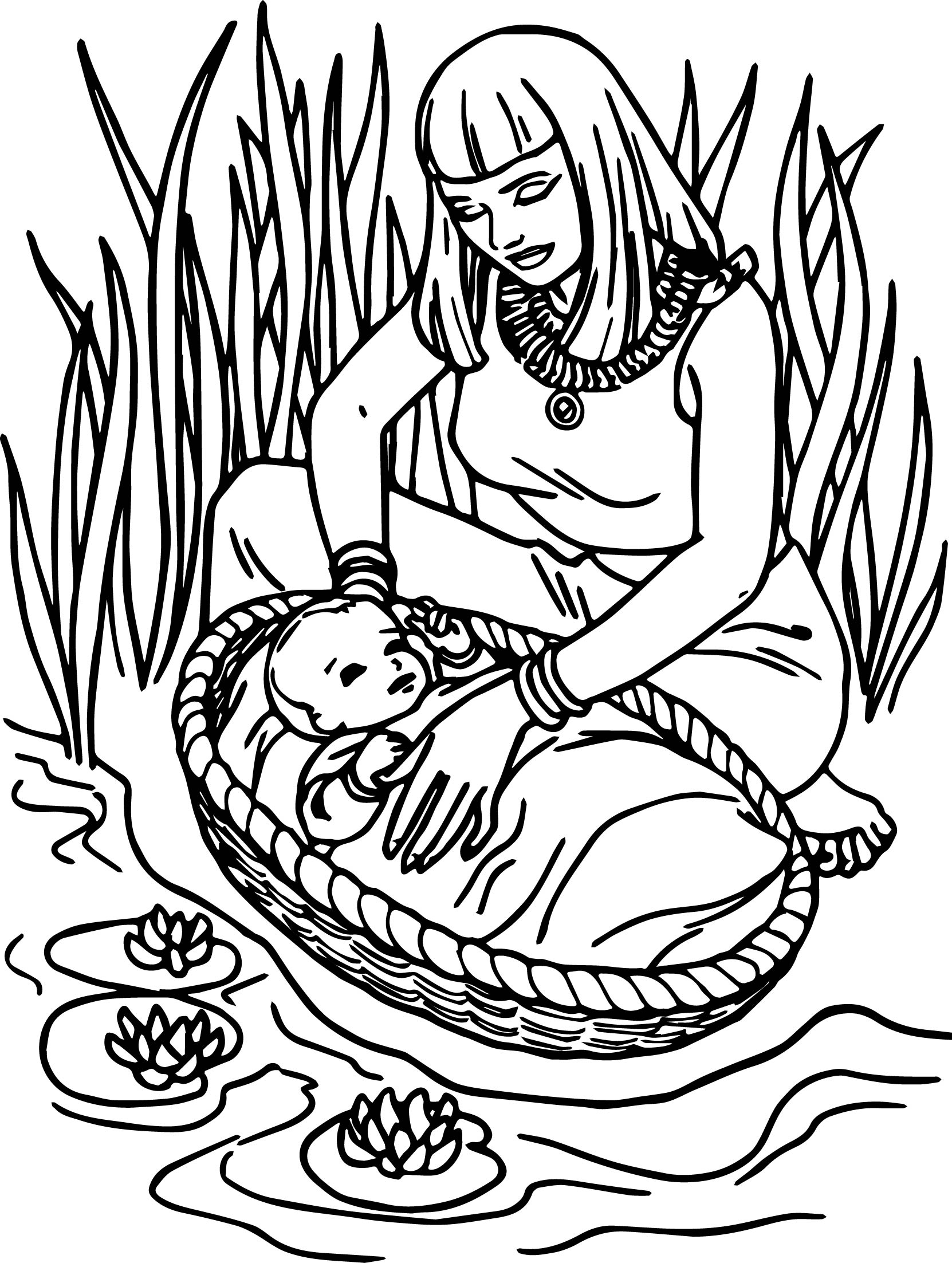 Baby Moses Clipart.