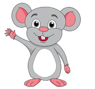 Baby mouse waving cartoon style clipart » Clipart Station.